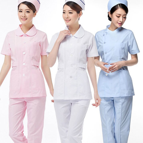 Short-Sleeved Suit Female Hospital Uniform Plus Size