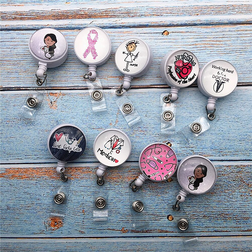 Student Nurse Exhibition Girls Name Card Chest Card Key Ring Chain Clips