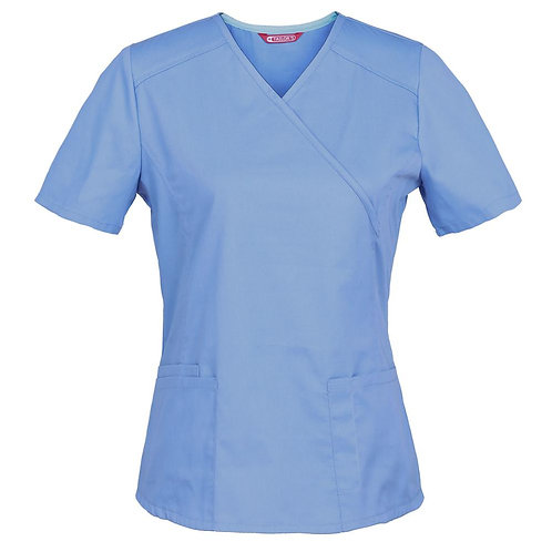 Women's Nursing Uniform Blouse Short Sleeve Styling  Working Top With Pockets