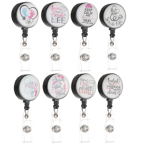 360 Degree Rotation Retractable Nurse Badge Reel Clip Funny Gift Supplies