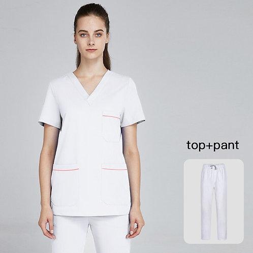 Medical Uniform Nurse Uniform Women Scrubs Set Lab Coats