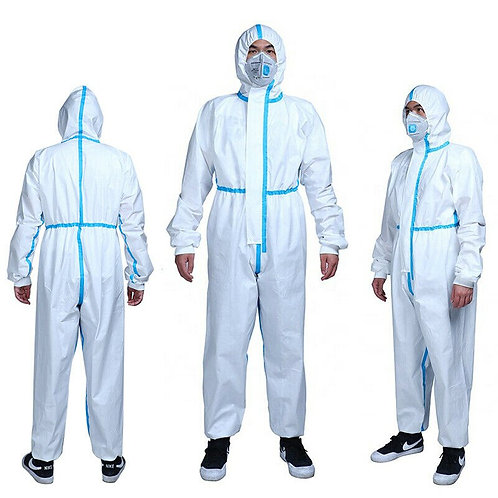 Overall Coverall Hazmat Suit Protection Disposable Anti-Virus Clothing