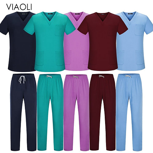 Short Sleeved Tops Pants Doctor Clothing Work Clothes Men Nursing Uniform