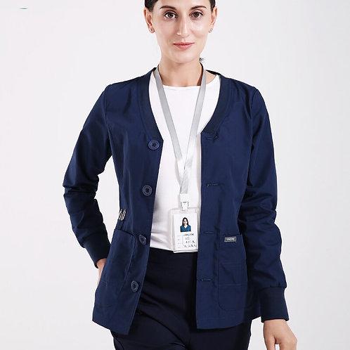 Warm Ups Jacket Nurse Tops Stretch Button Front Scrub Jackets Nurse Coat