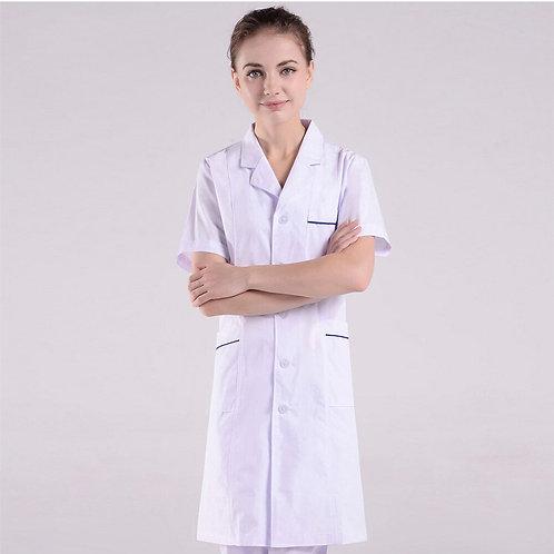 Pharmacy Lab Coat Work Wear White Coats Cotton Nursing Scrubs