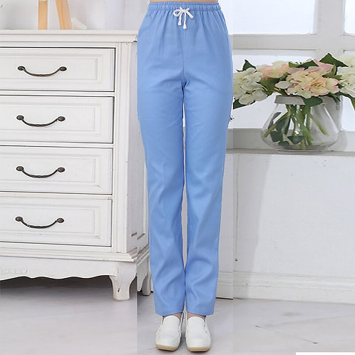 Nursing Uniform Work Pants Elastic Waist Pants Women Clinical Pants Laboratory
