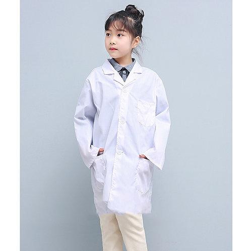 Long Sleeve Pockets Lab Uniform Doctor Nurse Clothing