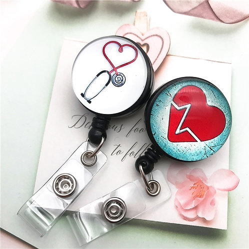 Badge Reel Clip ID Name Card Badge Holder Nurse Doctor Exhibition Hospital