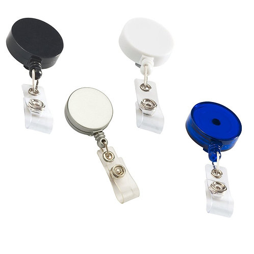 Retractable ID Card Roller Clip, W/ Waist Buckle,Nylon Rope,Hospital Nurse