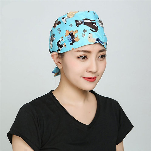 Nursing Cap Laboratory Pet Shop Fashion Scrub