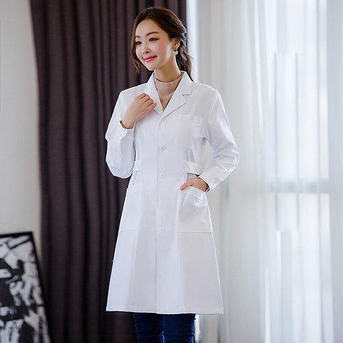 Women Long Sleeve Spa Uniform Lab Coats