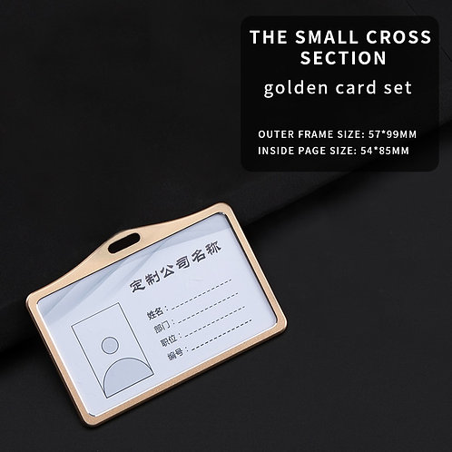 Aluminium Alloy Card Holder Name ID Card Cover Identity Badge Business Case
