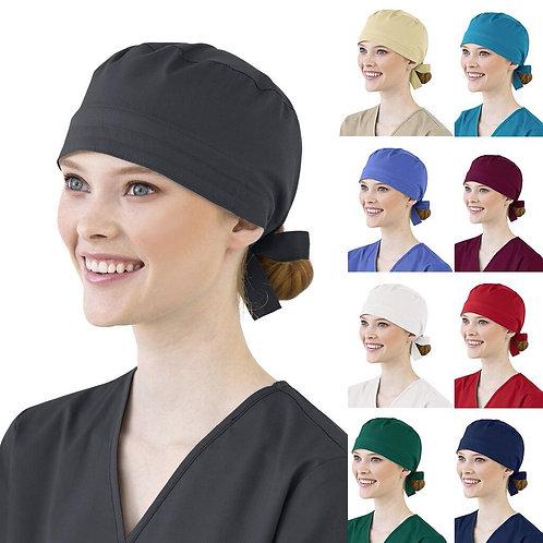 Women Cotton Bandage Adjustable Scrub Cap Sweatband Bouffant Hat