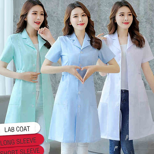 Women's Lab Coat Fashion Medical Uniforms Long Jacket With Side Belts