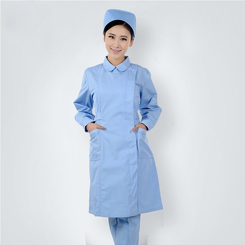 Scrub Clothes Institutions Long Sleeve Clothes Slim Fit Lab Coat