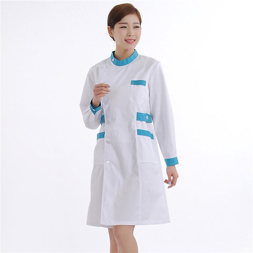 Quality Doctor Nurse Uniform Hospital Nursing Scrub Overalls Long Sleeve