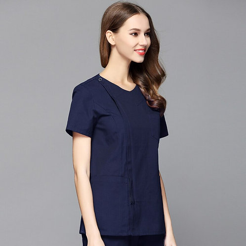 Lab Coat Women Sets Veterinary Gowns Scrub Suit