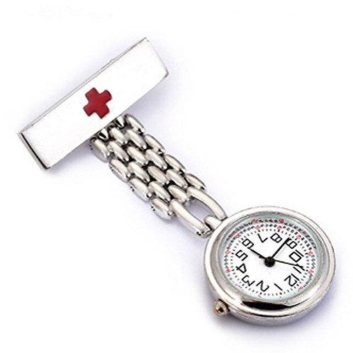 Quartz Brooch Hanging Nurse Watch Men Women Full Steel Medical Pocket Watch