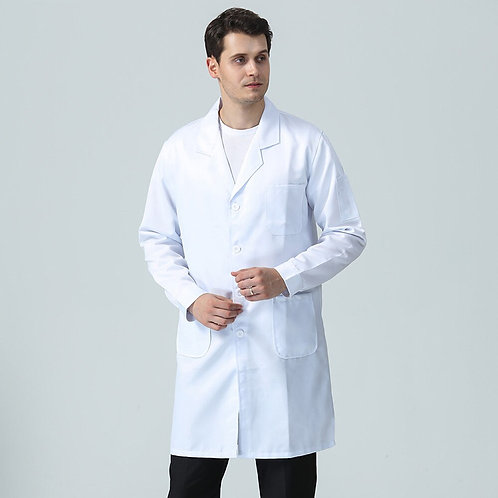 Health Workwear Uniform M-4xl New Long Sleeve White Pet Shop Coat
