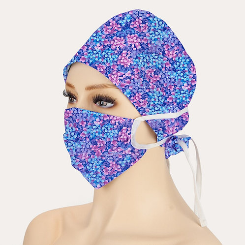Women Man Cartoon Scrubs Cap Unisex Breathable Laboratory Beauty Work Caps