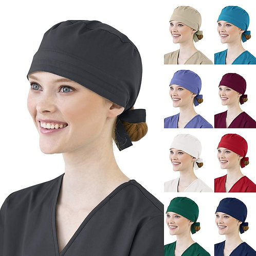 Women Nurse Hat Cotton Bandage Adjustable Scrub Cap