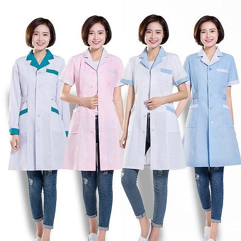 Scrub Uniform White Doctor's Coat Female Nurse the Pharmacy
