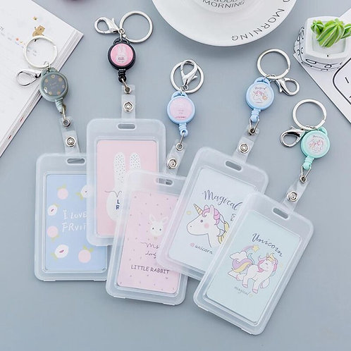Retractable Card Holder Nurse Exhibition Pull Key ID Name Card Badge Holder