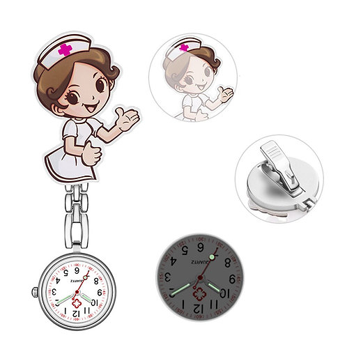 Nurse Watch Brooches Luminous Nurse Pocket Hang Clip Watches Jewelry