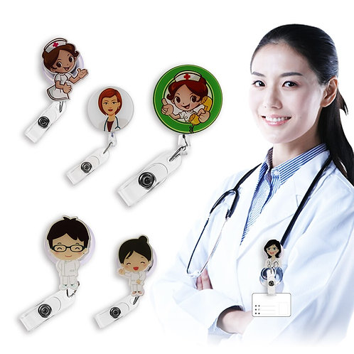 Nurse Lanyards ID Name Card Badge Holder Clip Student Nurse Badge Holder