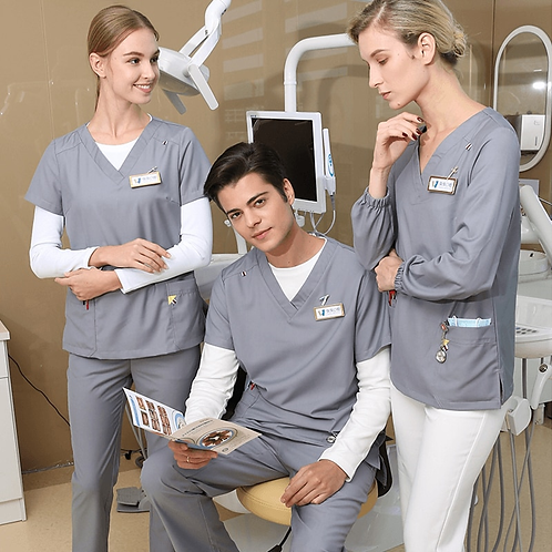 Surgical Medical Uniform Women Top and Pant Long and Short Sleeve