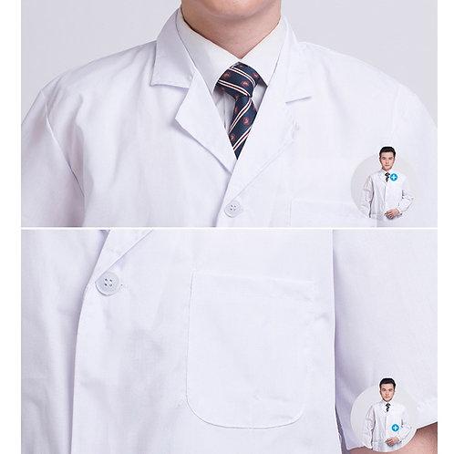 Short Sleeve Pockets Uniform Work Wear Doctor Nurse Clothing