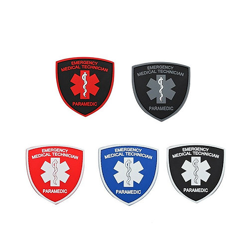 MEDICAL TECHNICIAN Patches PARAMEDIC BADGE PVC HOOK PATCH for Jacket Backpack