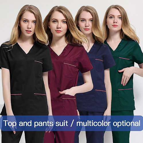 Laboratory Care Uniform Scrub Work Tops/Suits