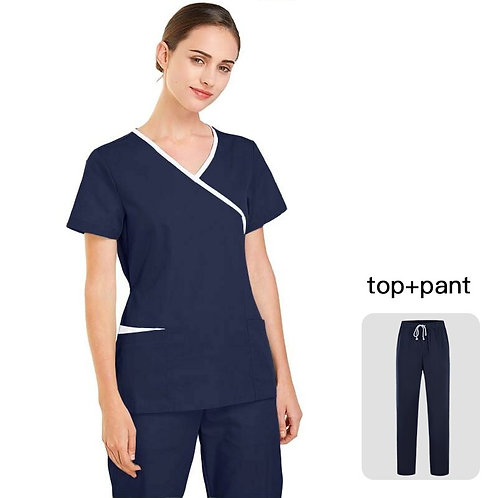 Polyester Cotton Solid Color Nursing Uniform
