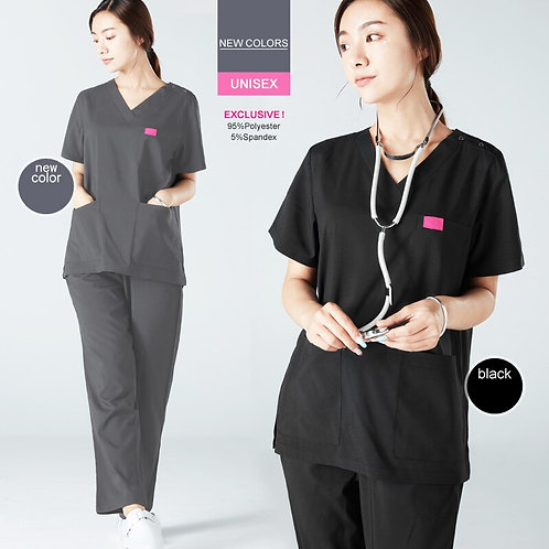 Black Scrub Uniform Scrubs Set Nursing Uniforms