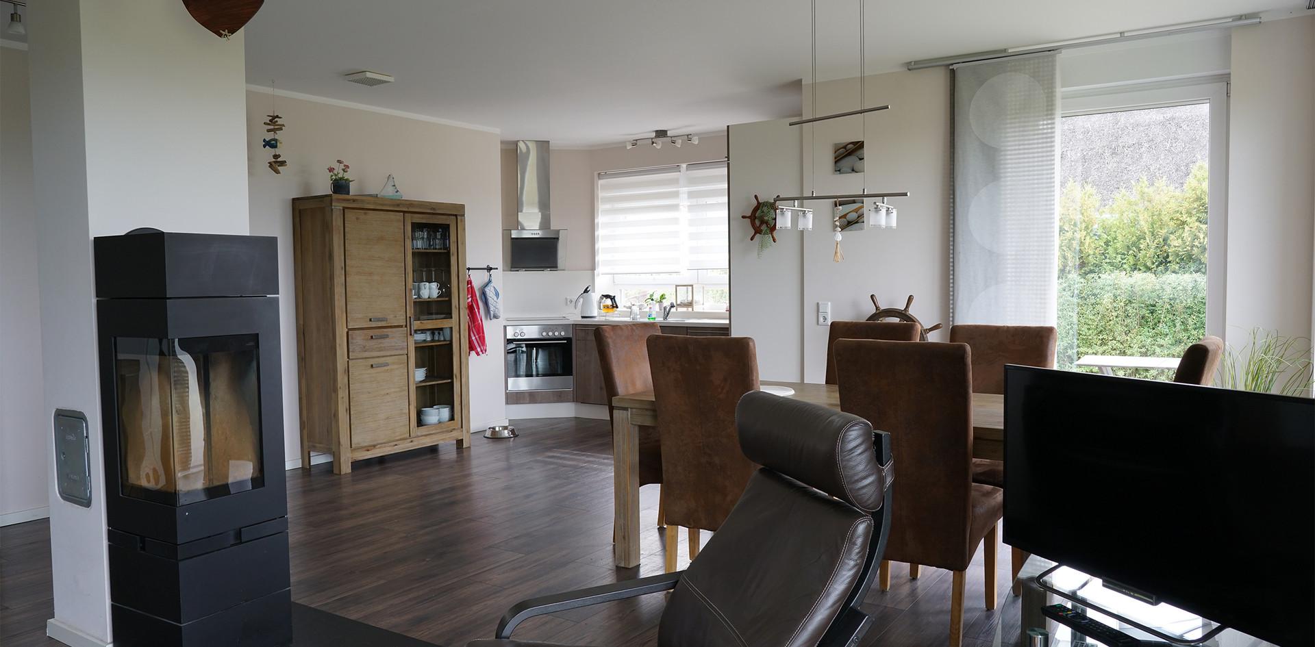 Ferienhaus auf Rügen, Esszimmer und Küche