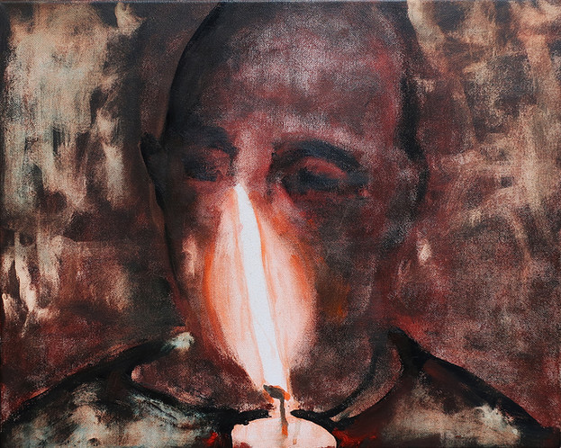 Man with candle 2, 2020,