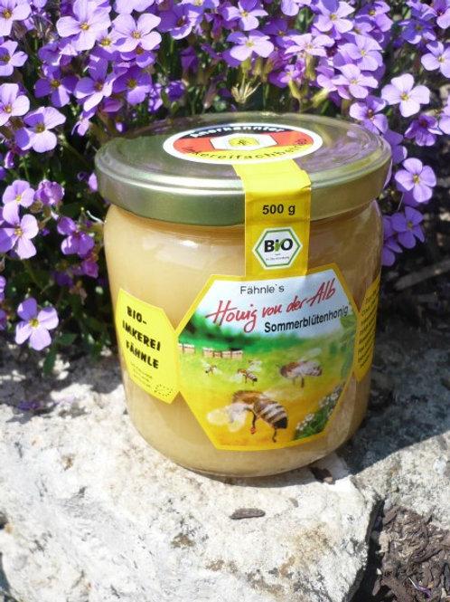 Bio Sommerblütenhonig von der schwäbischen Alb aromatisch 250 g.