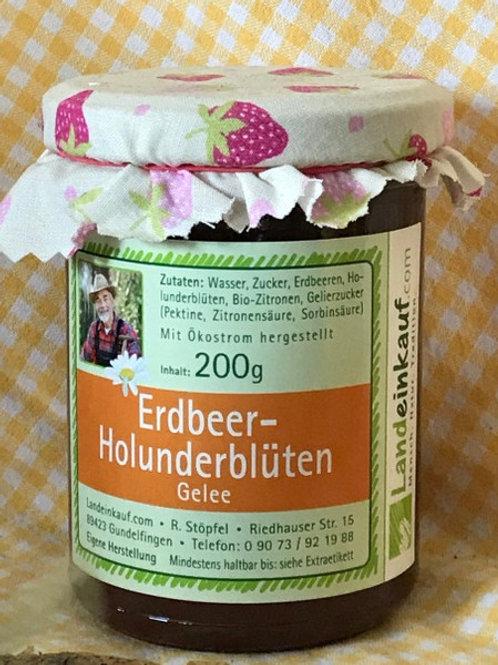 Landeinkauf Erdbeere-Holunderblüten Gelee - 200 g