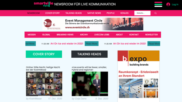 Webdesign - Online Zeitung - Smartville.