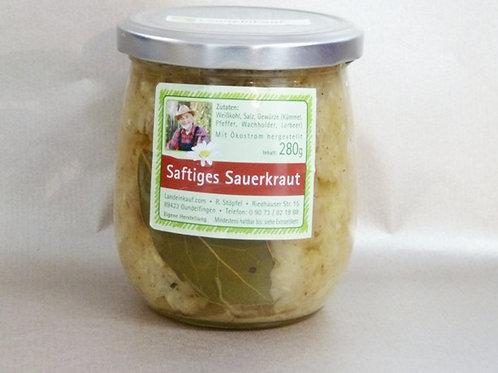 Landeinkauf saftiges Sauerkraut im Glas - 280 g