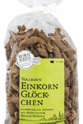 Bioland Einkorn-Glöckchen Nudeln - aus Einkorn-Vollkornmehl - 350 g.
