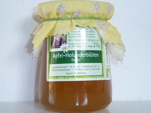 Donautaler Apfel-Holunderblüten Gelee - Handarbeit 200 g
