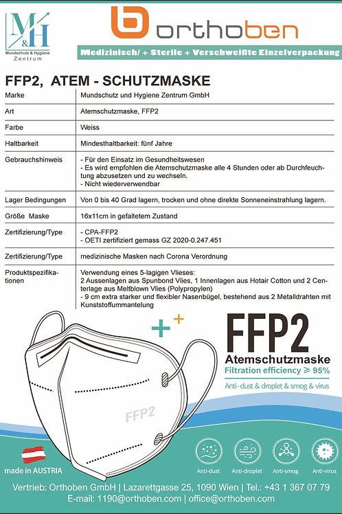 Atemschutzmaske FFP2 CE Zertifiziert 4lagig