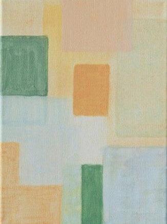 Komposition mit Silber-Türkis - Eveline Aberer-Grass