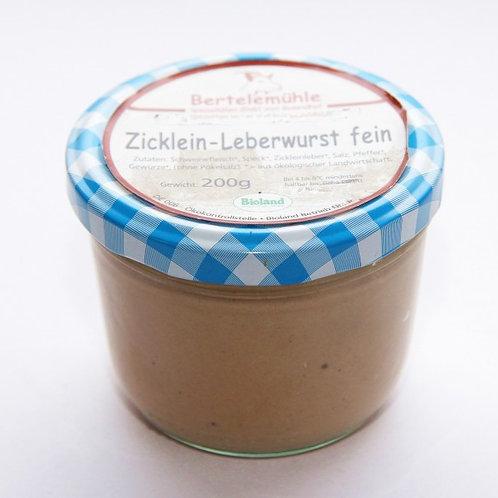 Hausmacher Leberwurst vom Bio-Schwein 200 g. im Glas