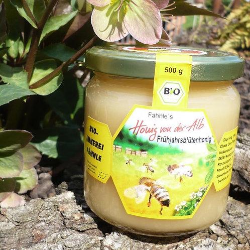 Bio Frühjahrshonig von der schwäbischen Alb feincremig 250 g.