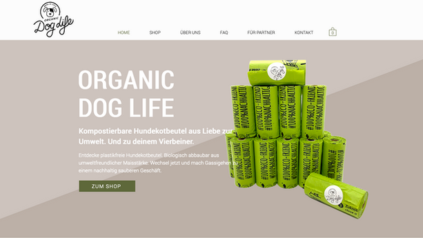 Webdesign - Doglife - Brainfood Desgin