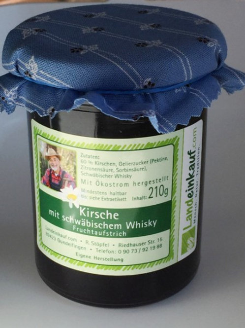 Kirsche mit schwäbischem Whisky - Fruchtaufstrich 190 g