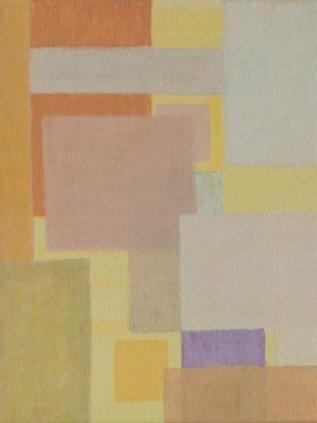 Komposition mit Grausilber-Rosa - Eveline Aberer-Grass